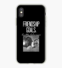 Friendship Goals; ButtahBenzo-- White iPhone Case