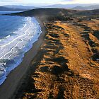 Dunes from the air - South Arm, Tasmania by clickedbynic
