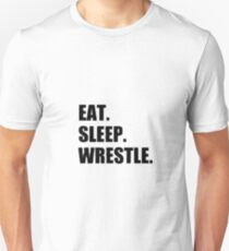 Eat Sleep Wrestle - Wrestling Design T-Shirt