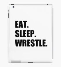 Eat Sleep Wrestle - Wrestling Design iPad Case/Skin