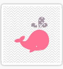 Pink Whale With Chevron Sticker