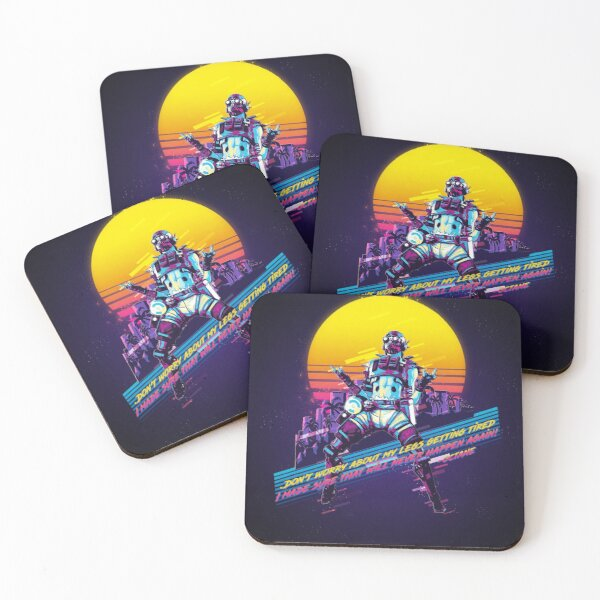Apex legends - Octane 80s retro Coasters (Set of 4)