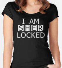 I AM SHER-LOCKED Women's Fitted Scoop T-Shirt