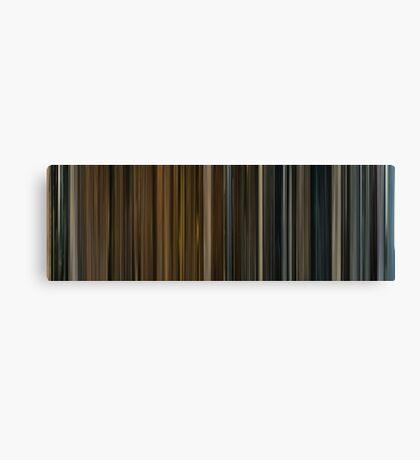 Moviebarcode: Melancholia (2011) Canvas Print