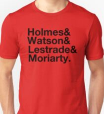 Holmes&Watson&Lestrade&Moriarty Unisex T-Shirt