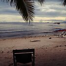 All you need is a chair on a beach. by oddoutlet