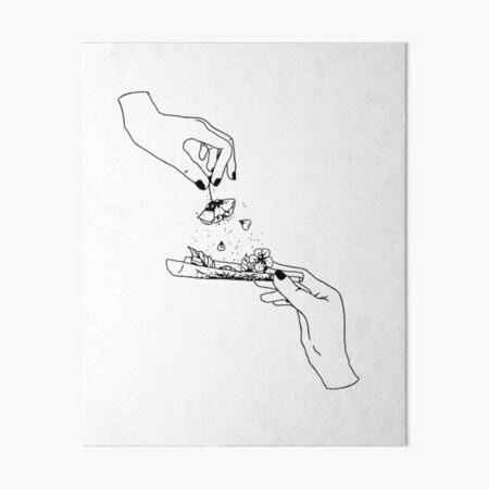 Flower joint lineart Art Board Print