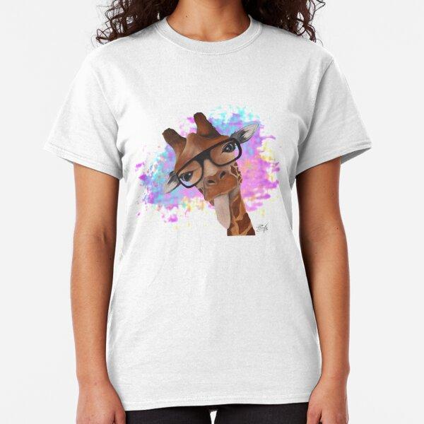 Girafe humour colorée T-shirt classique