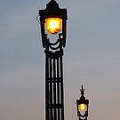 dusk lamplight by lukasdf
