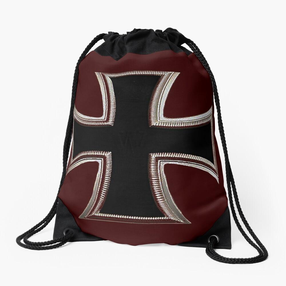 German Iron Cross Drawstring Bag
