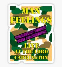 Man Feelings T-Shirt (Peep Show) Sticker