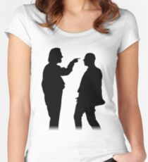Bottom silhouette - Richie and Eddie Women's Fitted Scoop T-Shirt