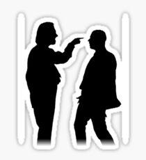 Bottom silhouette - Richie and Eddie Sticker