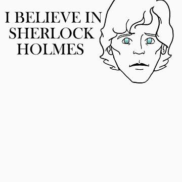 I Believe In Sherlock Holmes BLACK LINES by AimeeGallifrey