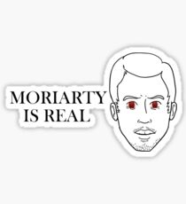 Moriarty Is Real BLACK LINES Sticker