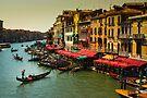 Gondolas on the Canal of Venice, Italy by Daniel H Chui