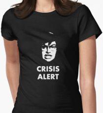 Garret Crisis Alert  Women's Fitted T-Shirt
