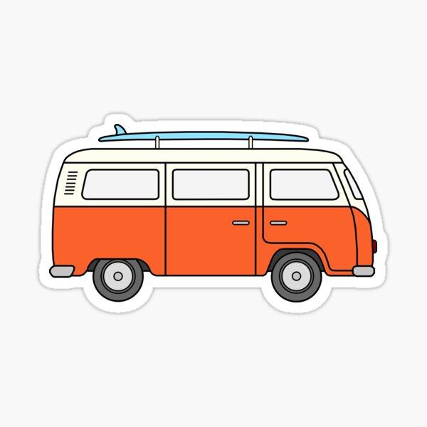 VW Orange Van Sticker