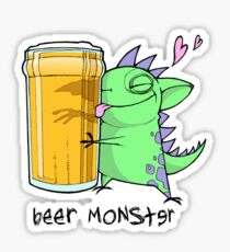 beer monster Sticker