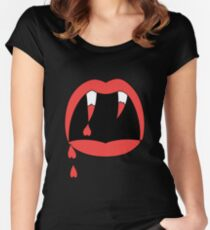 HIPSTER : LOVE FANGS Women's Fitted Scoop T-Shirt