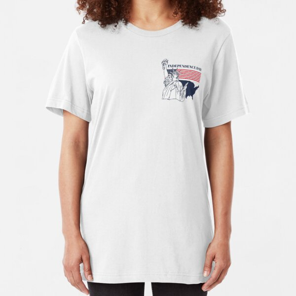 USA Independence Day | graphic design 4th of july, Slim Fit T-Shirt