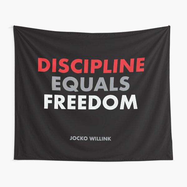 """Discipline Equals Freedom"" Jocko Willink Tapestry"