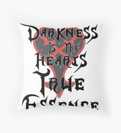 Kingdom Hearts: Ansem Quote  Throw Pillow