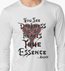 Kingdom Hearts: Ansem Quote  Long Sleeve T-Shirt