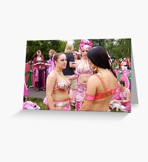 Belly Dancers DO talk! Greeting Card