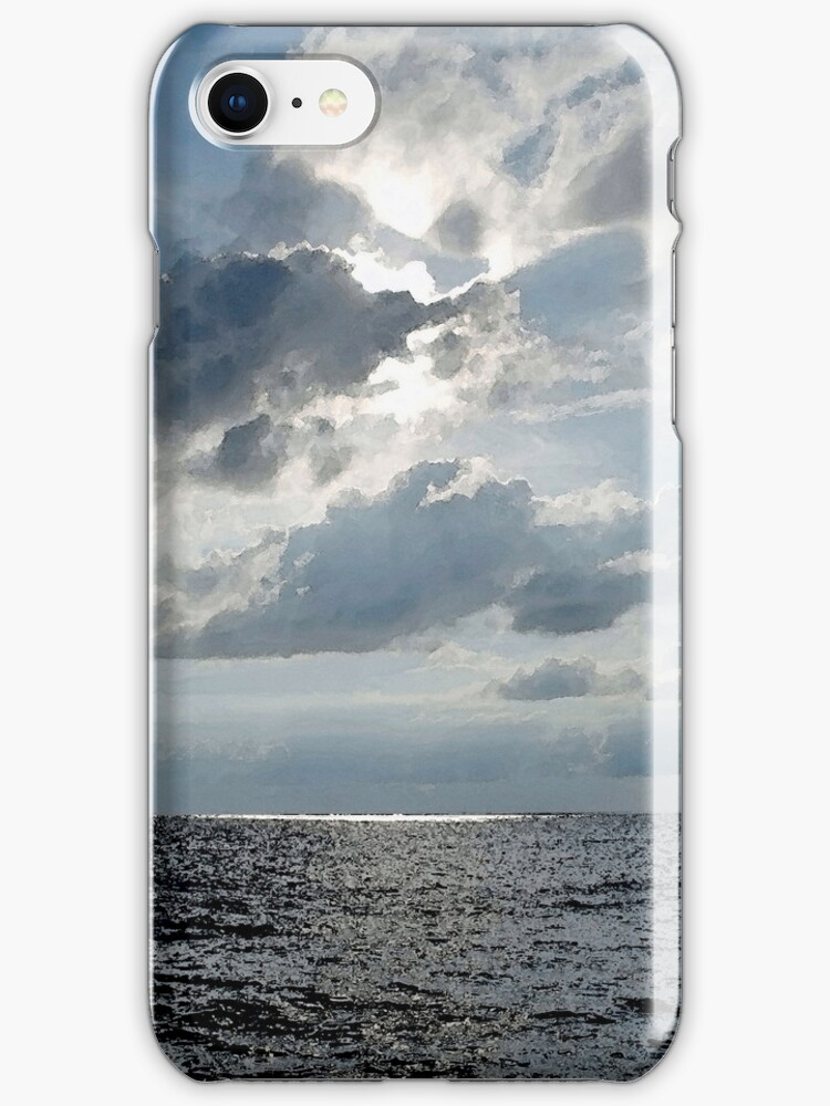 Seascape iPhone Case by Glennis  Siverson