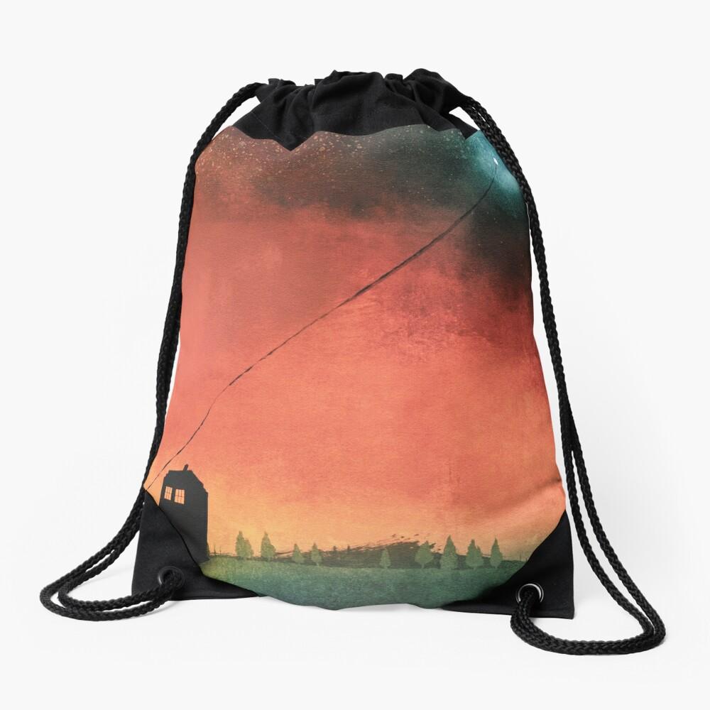 Boy On A String [Constellations] Drawstring Bag