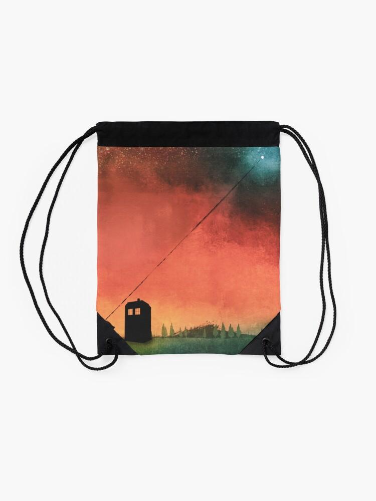 Alternate view of Boy On A String [Constellations] Drawstring Bag