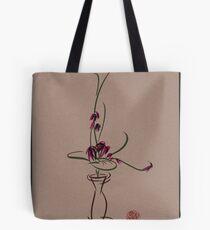 Life  -  Sumi e  Ikebana Zen drawing Tote Bag