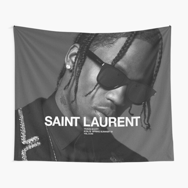 Travis Black And White Tapestry