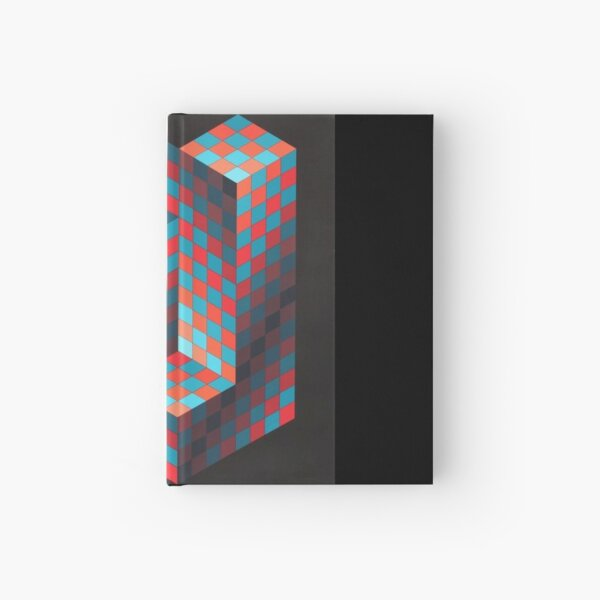 Op Art #OpArt Optical Art #OpticalArt Optical Illusions #OpticalIllusions #Illusion Hardcover Journal
