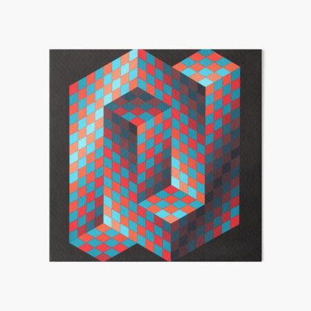 Op Art #OpArt Optical Art #OpticalArt Optical Illusions #OpticalIllusions #Illusion Art Board Print