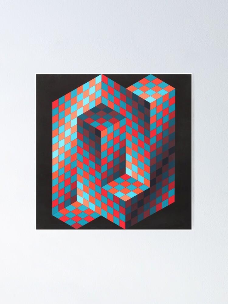 Alternate view of Op Art #OpArt Optical Art #OpticalArt Optical Illusions #OpticalIllusions #Illusion Poster