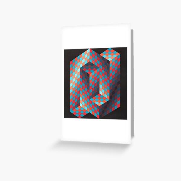 Op Art #OpArt Optical Art #OpticalArt Optical Illusions #OpticalIllusions #Illusion Greeting Card