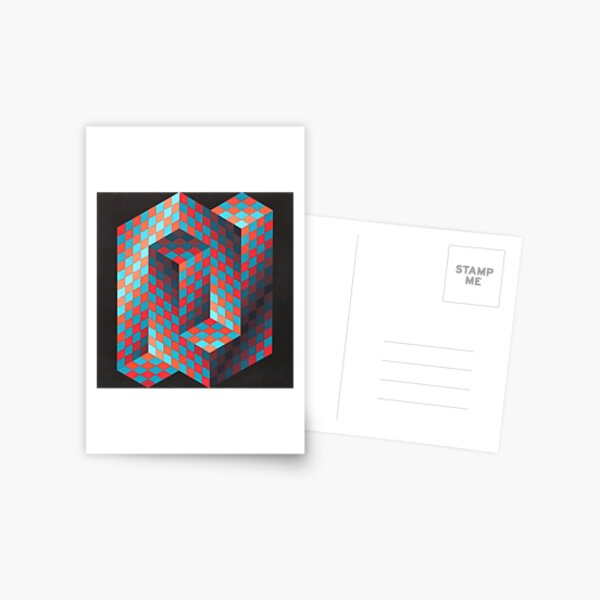 Op Art #OpArt Optical Art #OpticalArt Optical Illusions #OpticalIllusions #Illusion Postcard