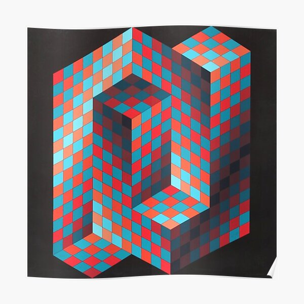Op Art #OpArt Optical Art #OpticalArt Optical Illusions #OpticalIllusions #Illusion Poster