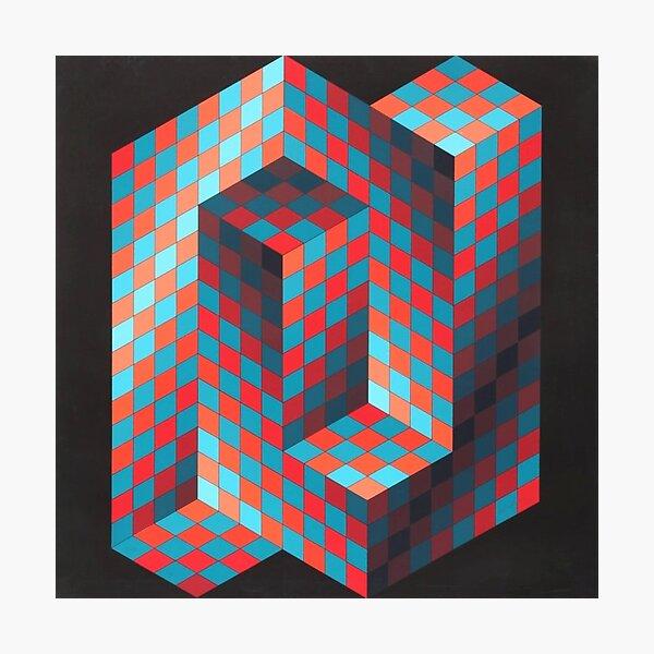 Op Art #OpArt Optical Art #OpticalArt Optical Illusions #OpticalIllusions #Illusion Photographic Print