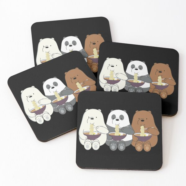 We Bare Bears Coasters (Set of 4)