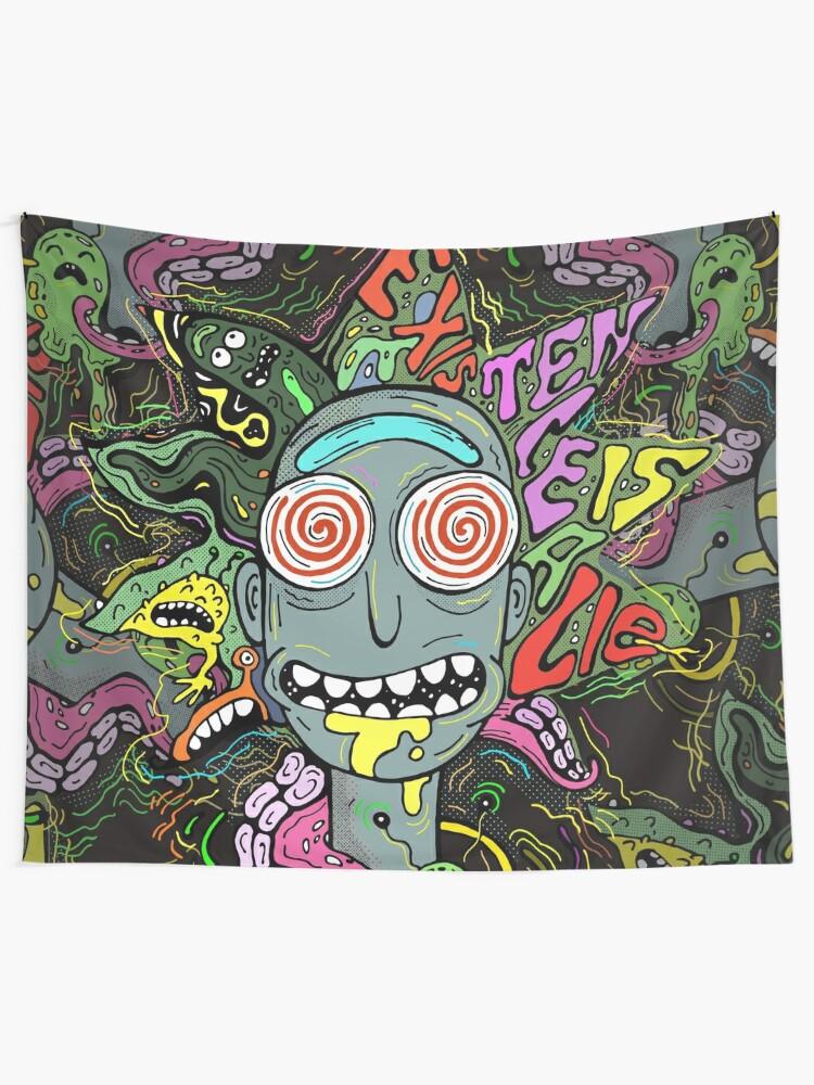 Alternate view of Acid Rick Tapestry