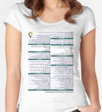 Linux Cheat Sheet Shirt Women's Fitted Scoop T-Shirt