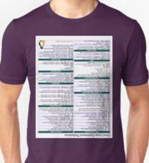 Linux Cheat Sheet Shirt Unisex T-Shirt