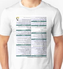 Linux Cheat Sheet Shirt Unisex T-Shirt
