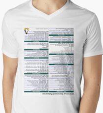 Linux Cheat Sheet Shirt Men's V-Neck T-Shirt