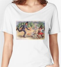 Young Graverobbers  (Vintage Halloween Card) Women's Relaxed Fit T-Shirt