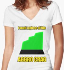 I want a piece of the aagro crag Women's Fitted V-Neck T-Shirt
