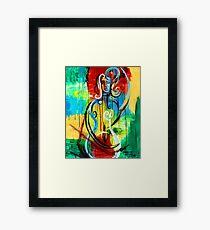 Woman Bass Framed Print